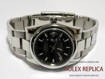 Rolex Date Just Replica Black Dial
