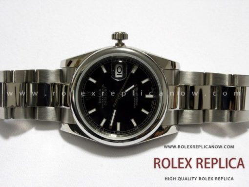 Rolex Date Just Replica Black Dial