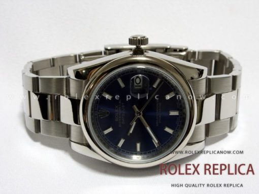 Rolex Date Just Replica Blue Dial