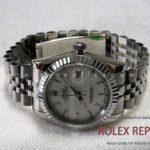 Rolex Date Just Replica Jubilee White Dial