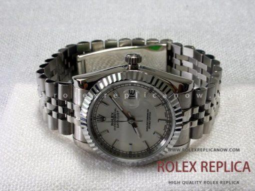 Rolex Date Just Replica Jubilee White Dial (1)