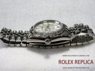 Rolex Date Just Replica Jubilee White Dial