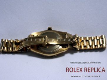 Rolex Day Date Replica White Dial Bezel with Diamonds