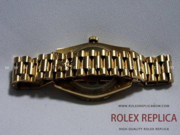 Rolex Day Date Replica White Dial Bezel with Diamonds