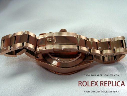 Rolex Daytona Replica Black Dial Everose A7750 Swiss Eta
