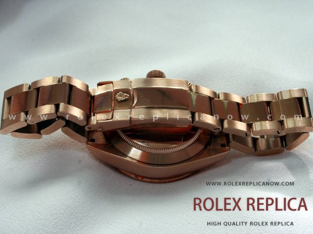 Rolex Daytona Replica Black Dial Everose A7750 Swiss Eta