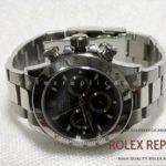 Rolex Replica Daytona Black Dial Steel A7750 Swiss Eta