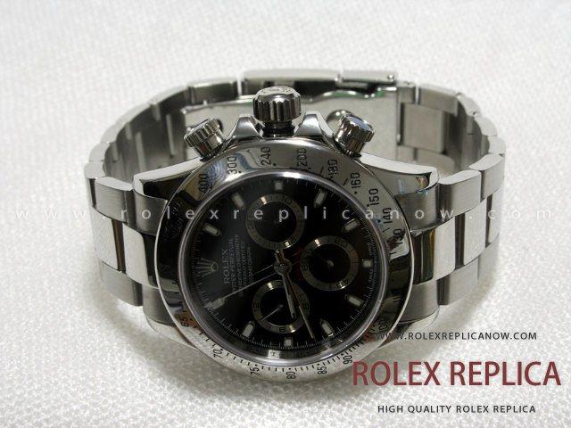 fb4d2fa0bfc Rolex Daytona Replica Black Dial Steel A7750 Swiss Eta
