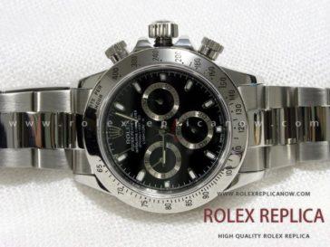Rolex Daytona Replica Black Dial Steel A7750 Swiss Eta