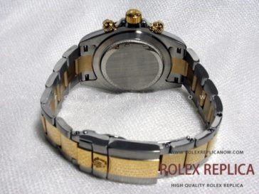 Rolex Daytona Replica Black Dial Steel and Gold A7750 Swiss Eta (2)