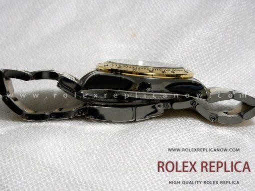 Rolex Daytona Replica Black Dial Steel and Gold A7750 Swiss Eta