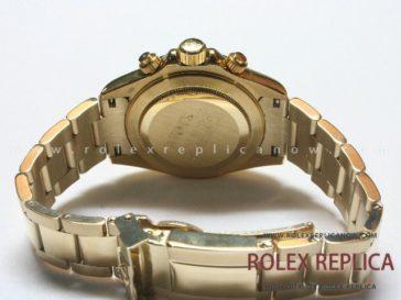 Rolex Daytona Replica Black Dial Yellow Gold