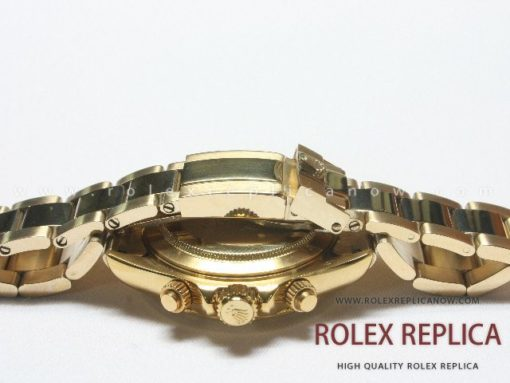 Rolex Daytona Replica Black Dial Yellow Gold