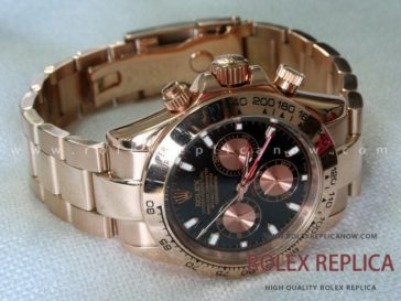 Rolex Daytona Replica Everose Black Dial