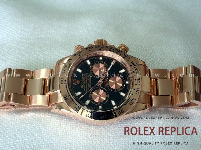 Rolex Daytona Replica Everose Black Dial