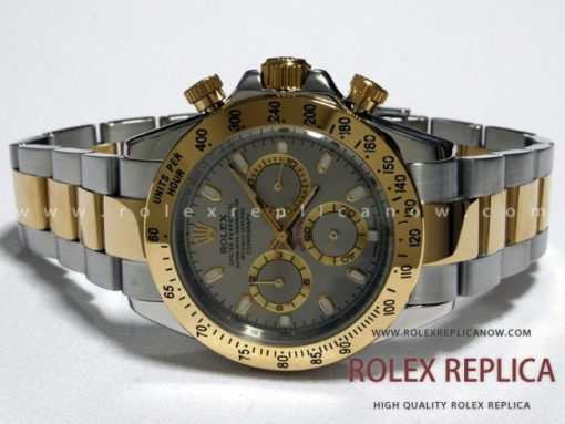 Rolex Daytona Replica Gray Dial Steel and Gold