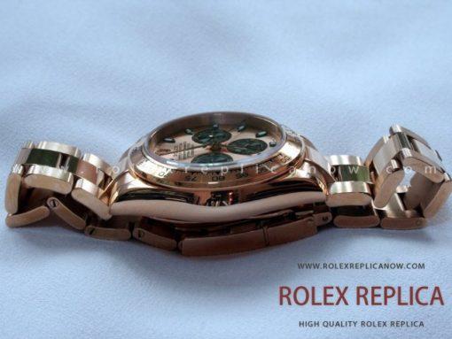 Rolex Daytona Replica Pink Dial Gold Everose A7750 Swiss Eta