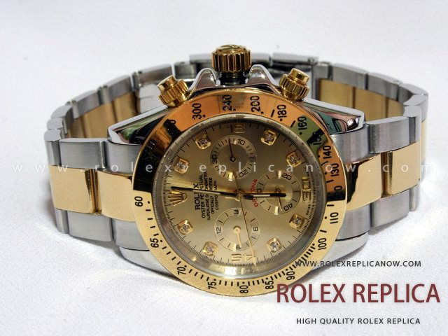 rolex daytona replica steel and gold with diamonds. Black Bedroom Furniture Sets. Home Design Ideas