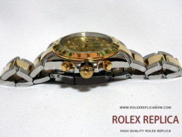 Rolex Daytona Replica Steel and Gold with Diamonds