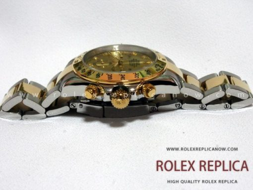 Rolex Daytona Replica Steel and Gold with Diamonds