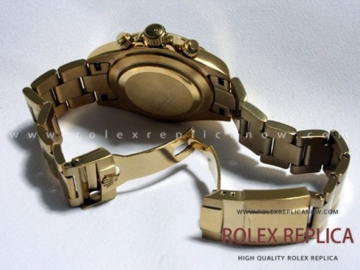 Rolex Daytona Replica White Dial Gold with Diamonds