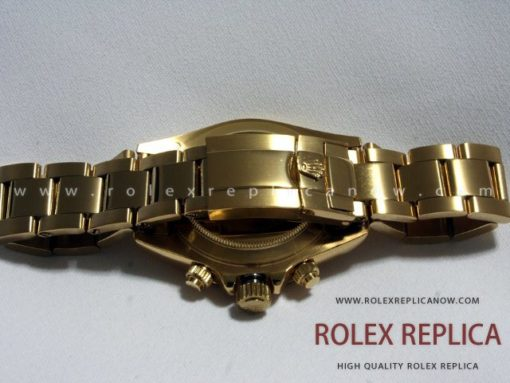 Rolex Daytona Replica White Dial Gold with Diamonds
