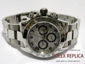 cd982edaae3 Rolex Daytona Replica Silver Dial Red Hands A7750 Swiss Eta