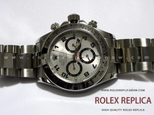 Rolex Daytona Replica Silver Dial Red Hands A7750 Swiss Eta