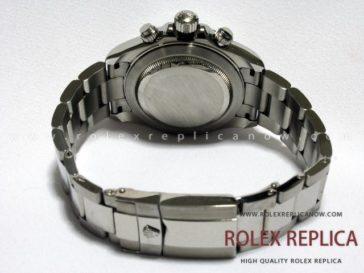 Rolex Daytona Replica Silver Dial Red Hands A7750 Swiss Eta