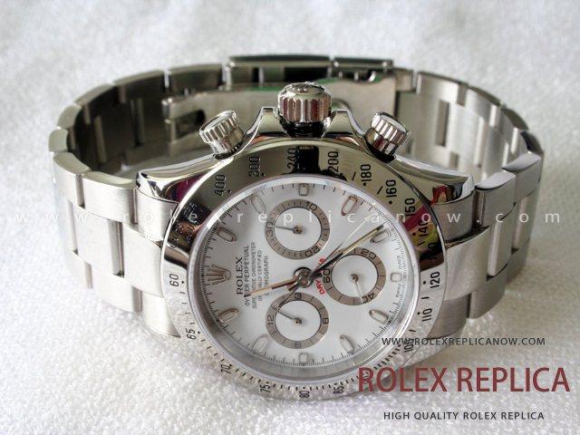 690f5495486 Rolex Daytona Replica White Dial Steel A7750 Swiss Eta