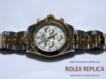 Rolex Daytona Replica White Dial Steel and Gold (2)