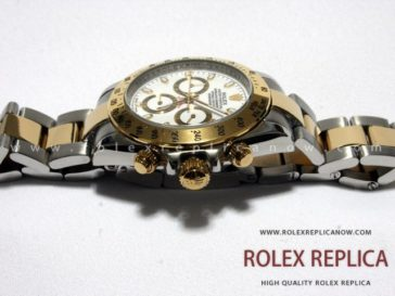 Rolex Daytona Replica White Dial Steel and Gold (3)