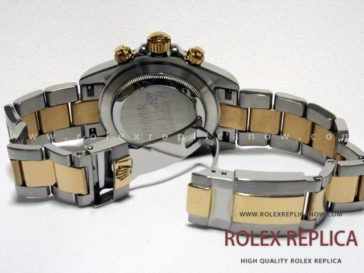 Rolex Daytona Replica White Dial Steel and Gold (6)