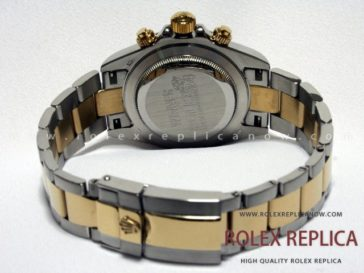 Rolex Daytona Replica White Dial Steel and Gold (7)