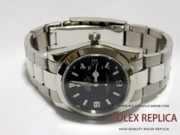 Rolex Explorer I Replica Black Dial