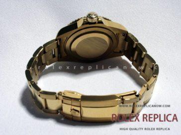 Rolex Gmt Master II Replica Black Dial Gold