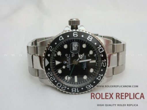 Rolex Gmt Master II Replica Black Dial Green Hand (1)