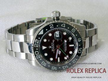 Rolex Gmt Master II Replica Black Dial Green Hand 2836-2 Swiss Eta