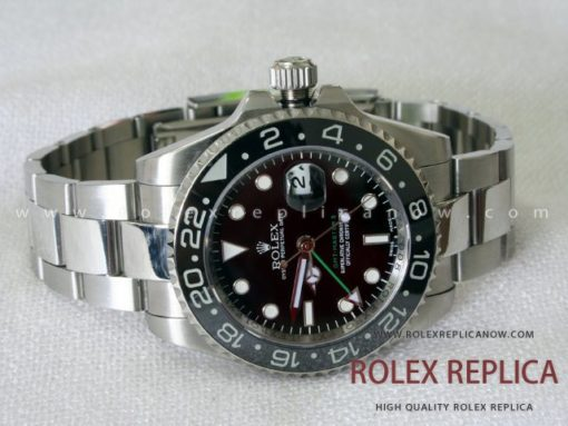 Rolex Gmt Master II Replica Black Dial Green Hand 2836-2 Swiss Eta (1)