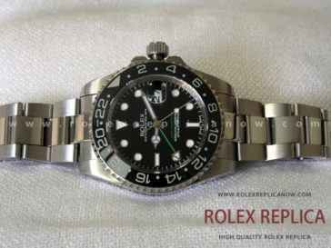 Rolex Gmt Master II Replica Black Dial Green Hand 2836-2 Swiss Eta (3)