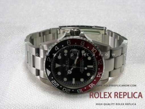 Rolex Gmt Master II Replica Black and Red Bezel