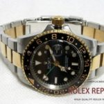 Rolex Gmt Master II Replica Green Hand Steel and Gold