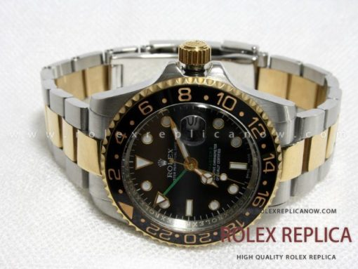 Gmt Master II Green Hand Steel and Gold
