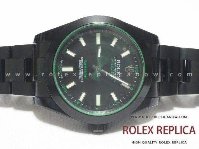 Rolex Milgauss Replica Bamford Pvd Black