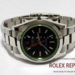 Rolex Replica Milgauss Black Dial Green Glass