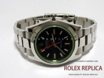Rolex Replica Milgauss Black Dial Green Glass