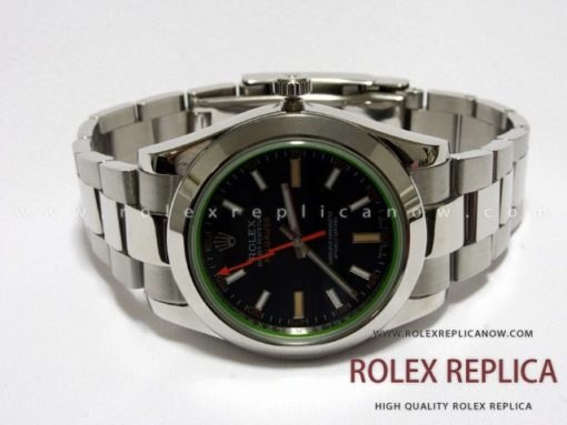 Milgauss Black Dial Green Glass