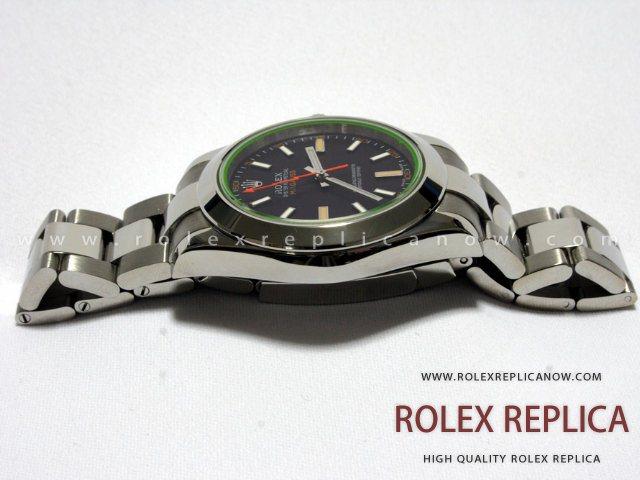 Rolex Milgauss Replica Black Dial Green Glass