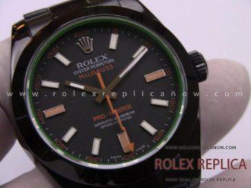 Rolex Milgauss Replica Pro Hunter Pvd Black 2836-2 Swiss Eta