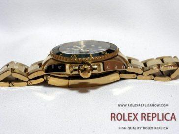Rolex Submariner Date Replica Black Dial Gold 2836-2 Swiss Eta (3)